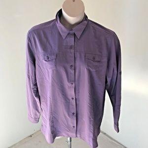 Storm Creek 2X Purple Shirt Solid Plus Long Slv